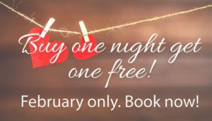 Buy one night, get one free in February